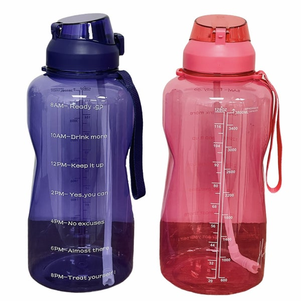 Heathered Boho Motivational Water Bottle
