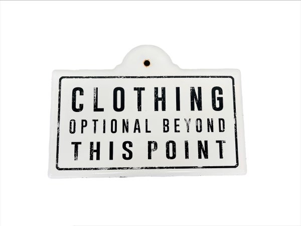 Clothing Metal Sign