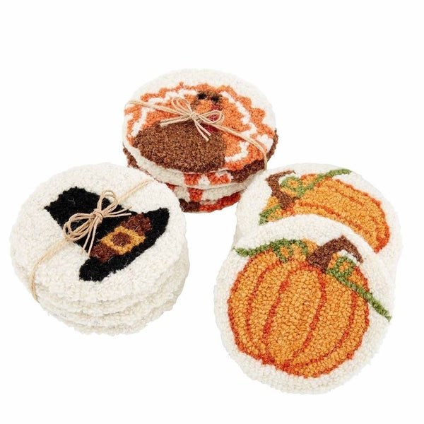 Fall Wool Coasters
