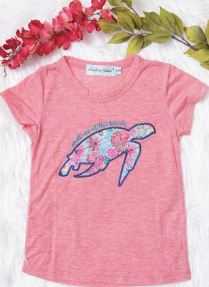'Meet Me At The Beach' Girls Graphic Tee