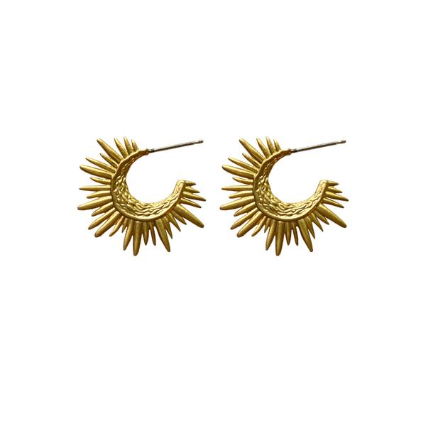 Sunburst Huggie Earrings