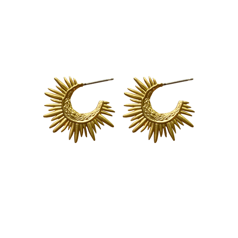Sunburst Huggie Earrings
