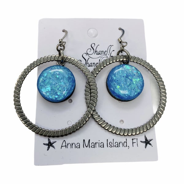 Mermaid Nautical Hoop Earrings