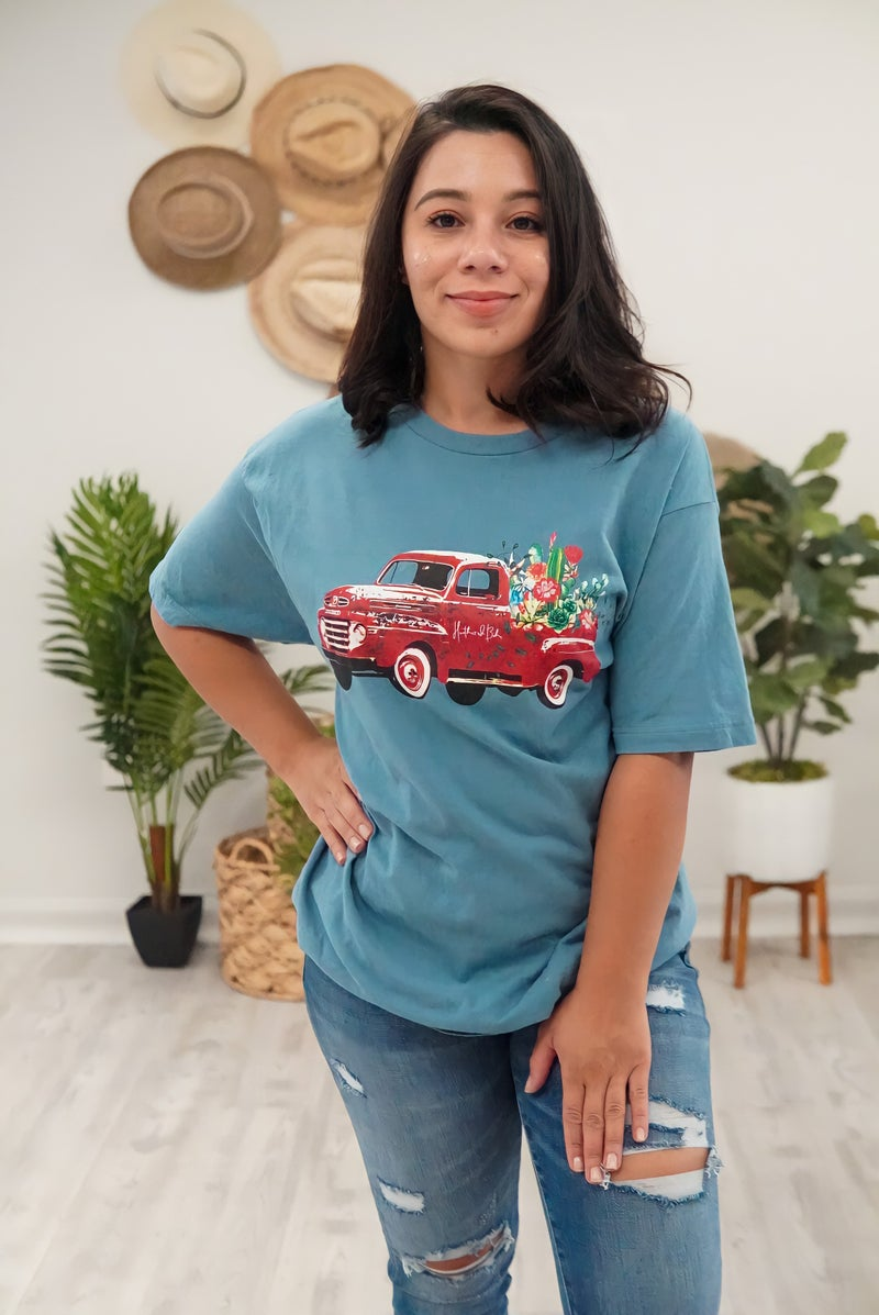 Custom Truck With Boho logo Tee