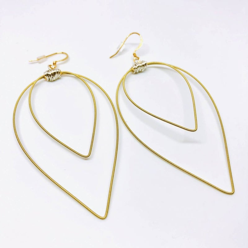 Double Pick Loop Earrings