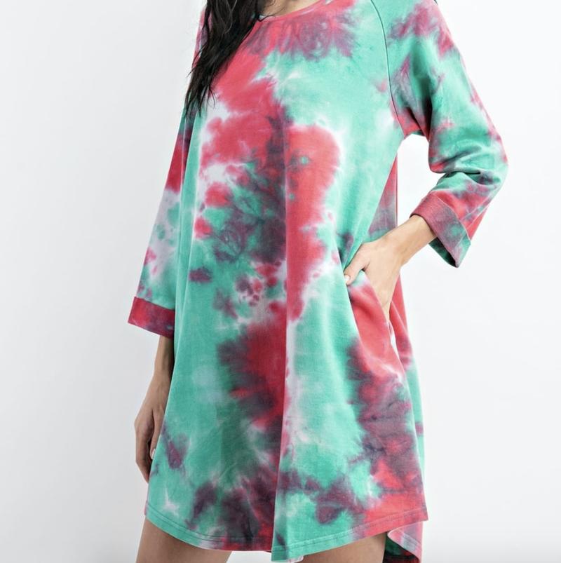 Boho Babe Tie Dye Dress