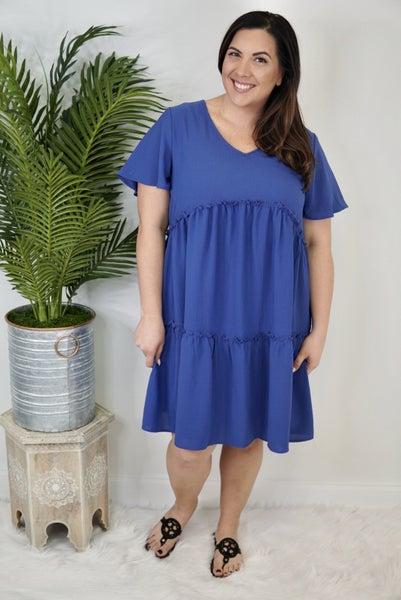 V Neck Tiered Babydoll Dress *Final Sale*