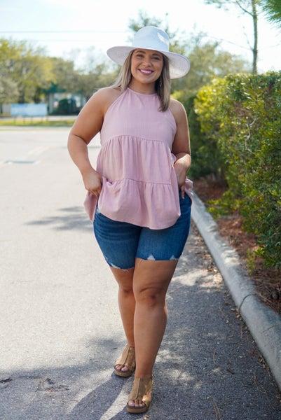 Take Me to the Riverwalk Denim Shorts