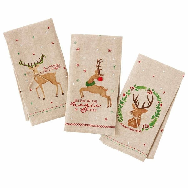 Deer Holiday Towels