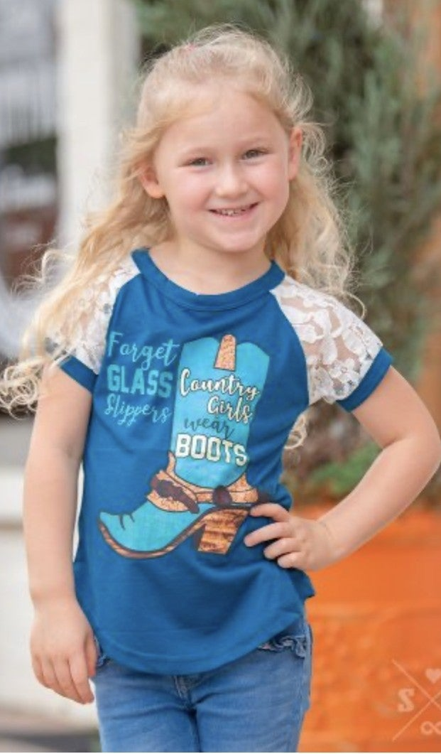'Forget Glass Slippers, Country Girls Wear Boots' Graphic Tee