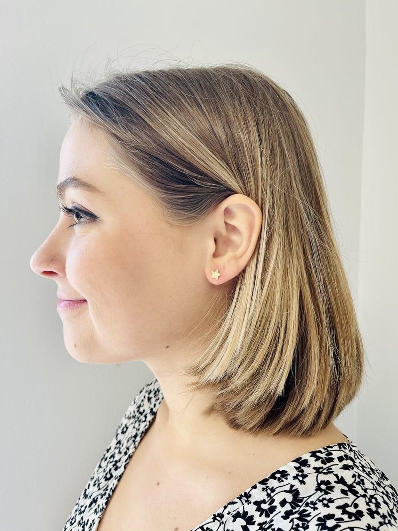 Pave Star Stud Earrings