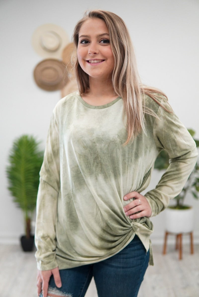 Raw Hem Hippie Vibes Top
