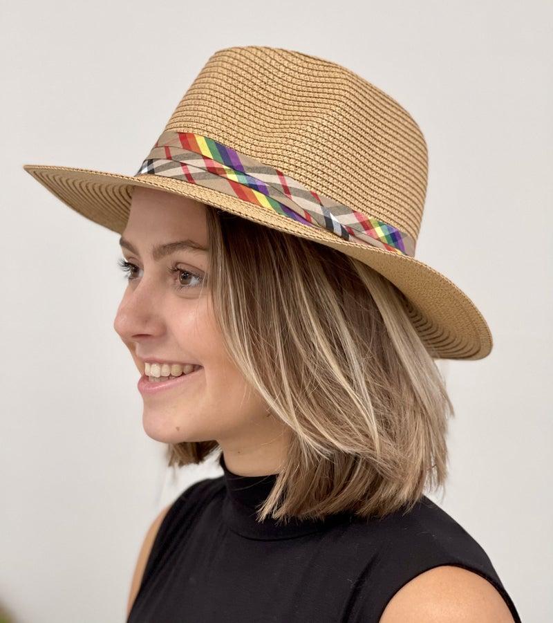 Vintage Plaid Rainbow Hat