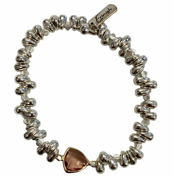 Rose's Jeweled Silver Bracelet