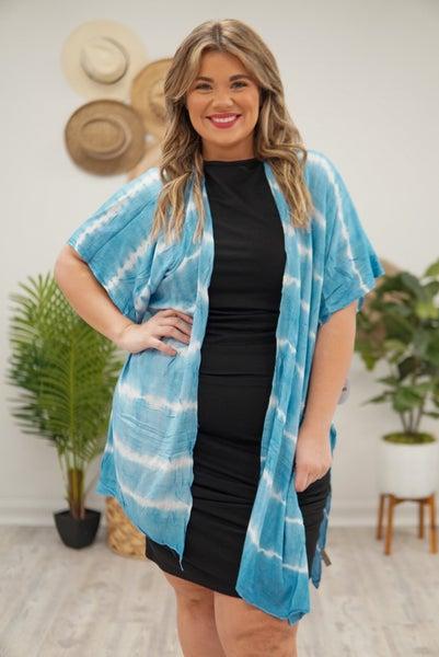 Shore Tie-Dye Kimono
