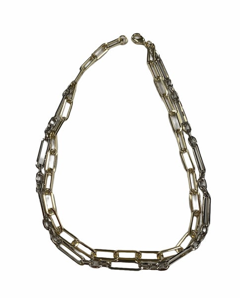Twice As Nice Double Chain Necklace