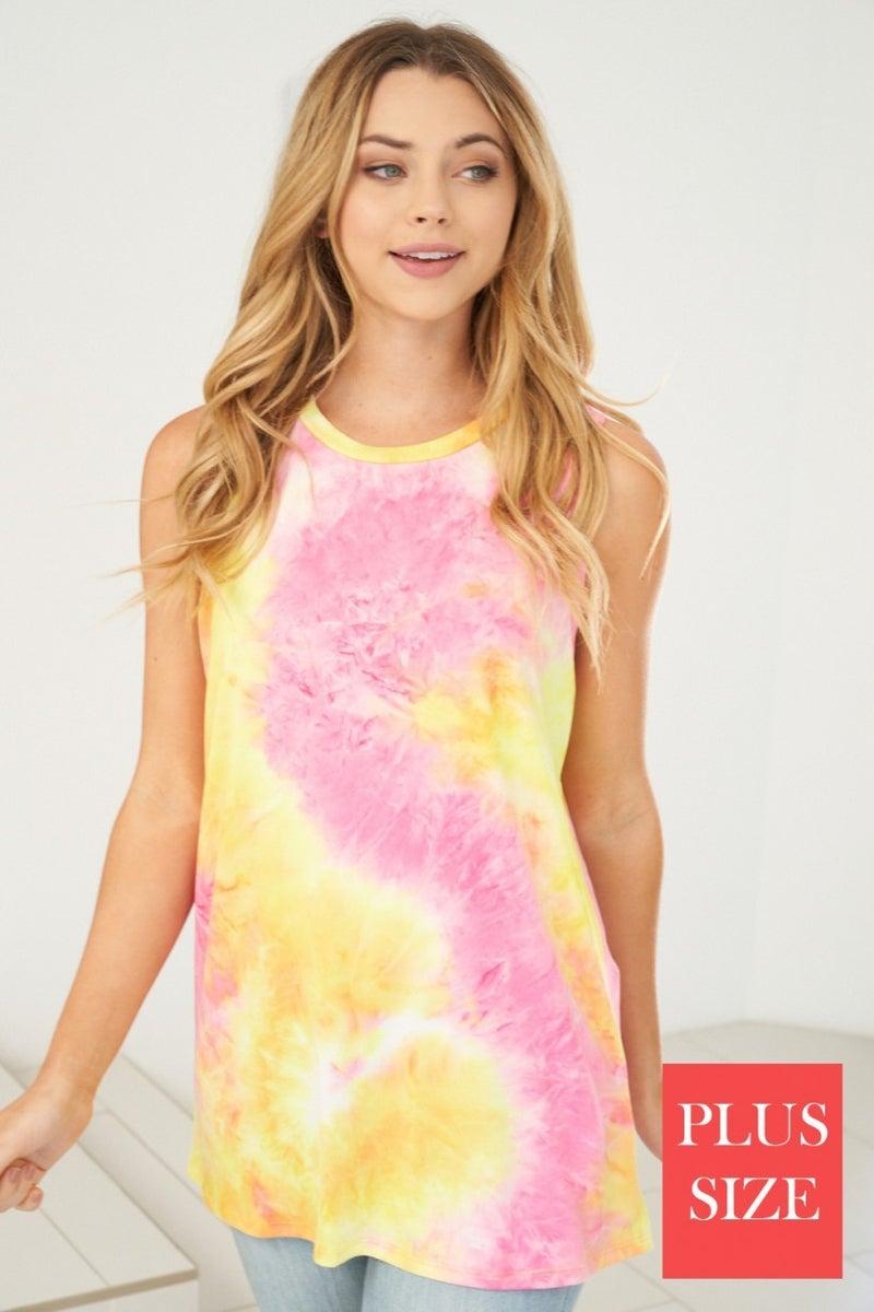 Luminous  Tie Dye Tank *Final Sale*
