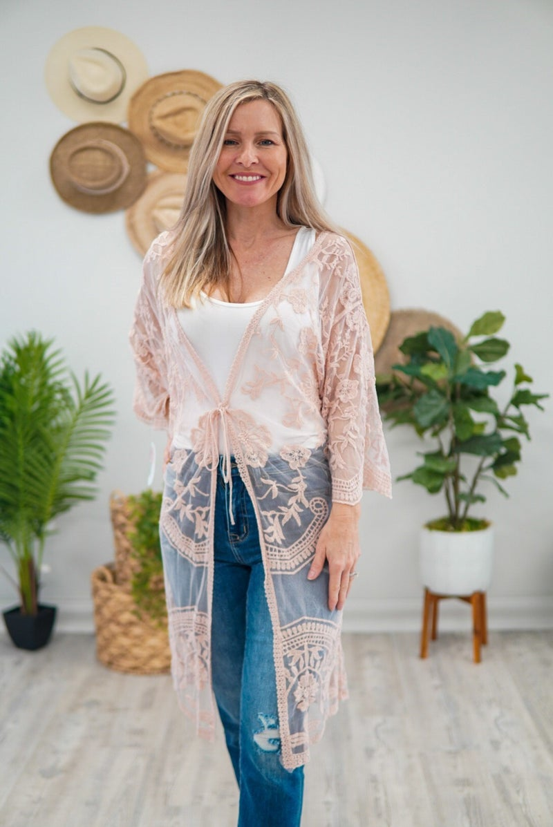 Knee Length Knockout Kimono