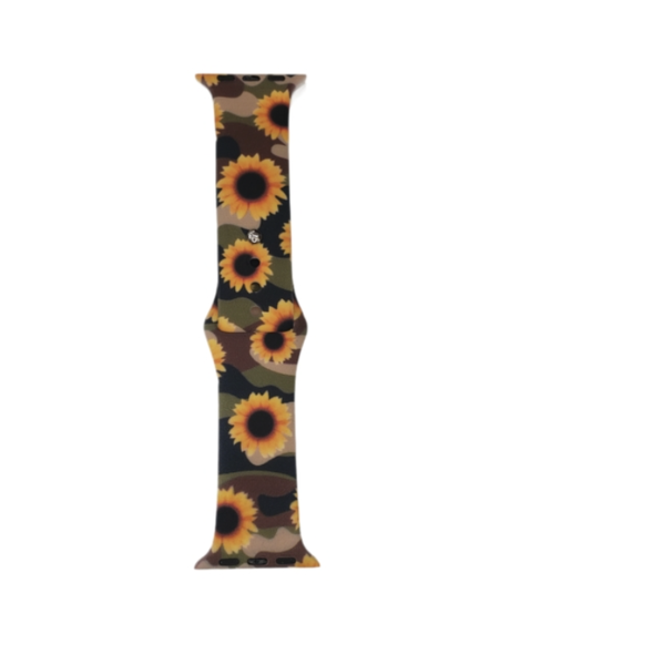 Hidden Sunflowers Silicone Band