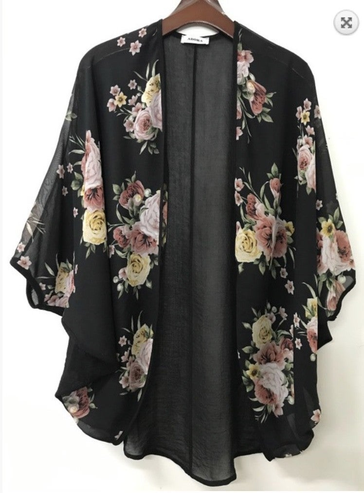Stop and Smell the Roses Kimono *Final Sale*