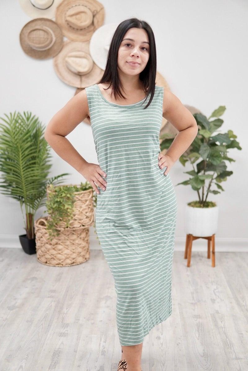 Striped & Twisted Dress