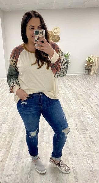 Judy Blue Cuffed Hem Skinny Jeans