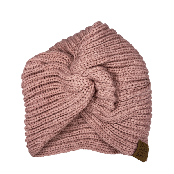 Pink Twisted Turban Beanie