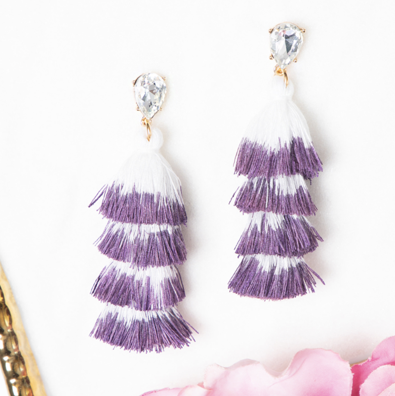 Elegantly Simple Tassel Earrings