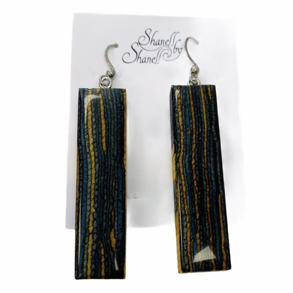 Blue / Yellow Rectangle Dangles