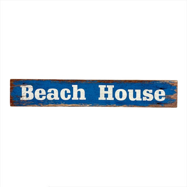Beach House Wood Block