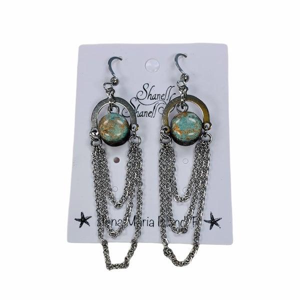 """Copper Patina """"Boho"""" Earrings"""