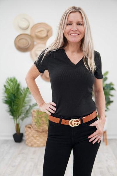 Totally Hot V-Neck Tee Bodysuit