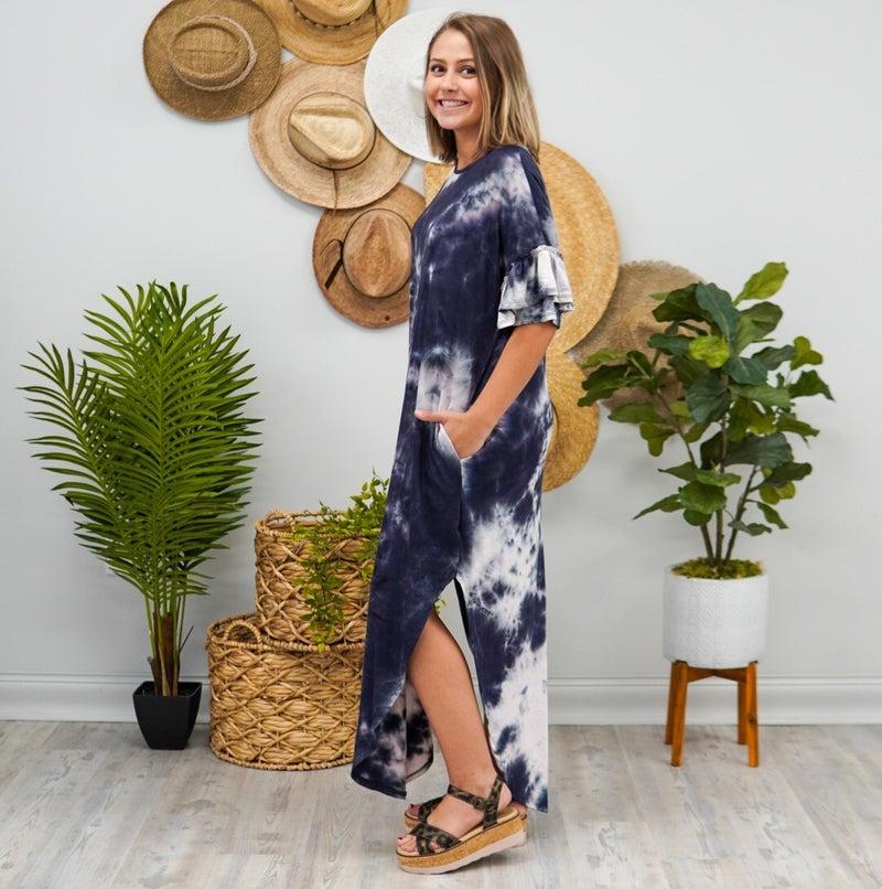 Ink Splat Maxi Dress