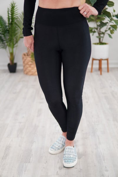 Micro-Ribbed Highwaist Leggings