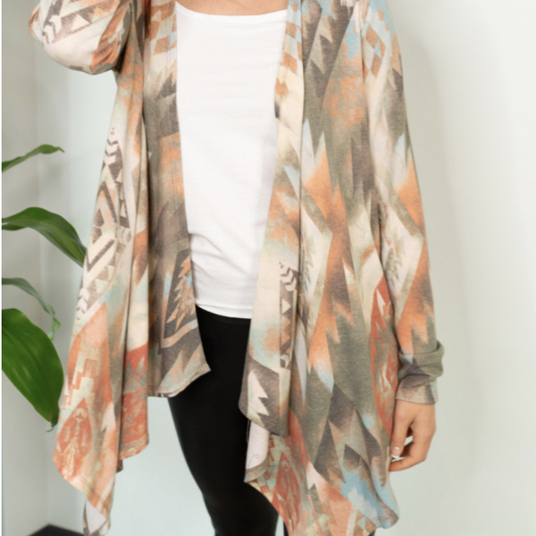 Aztec Olive Kimono
