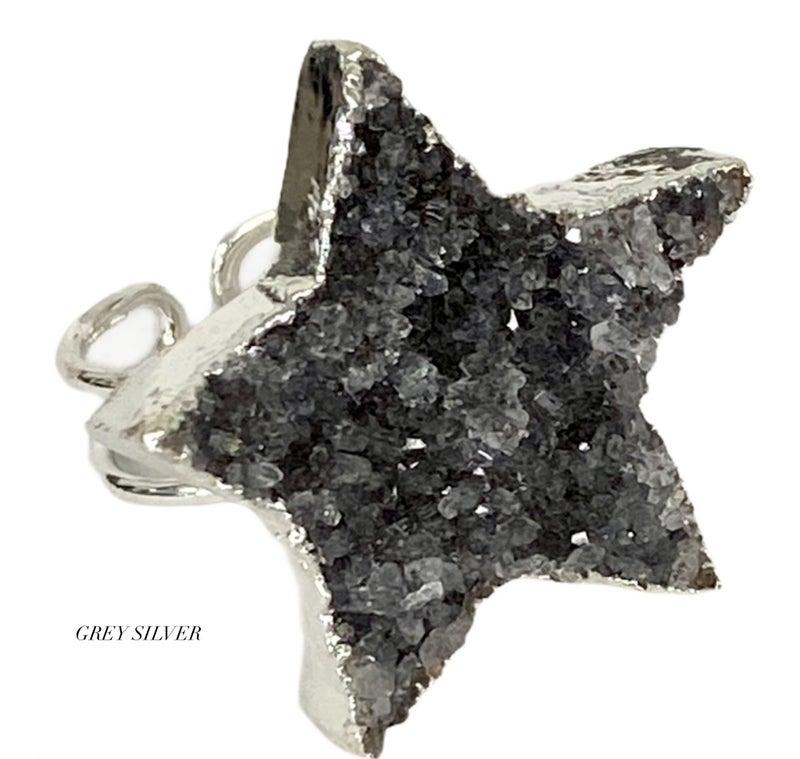 Star Druzy Ring