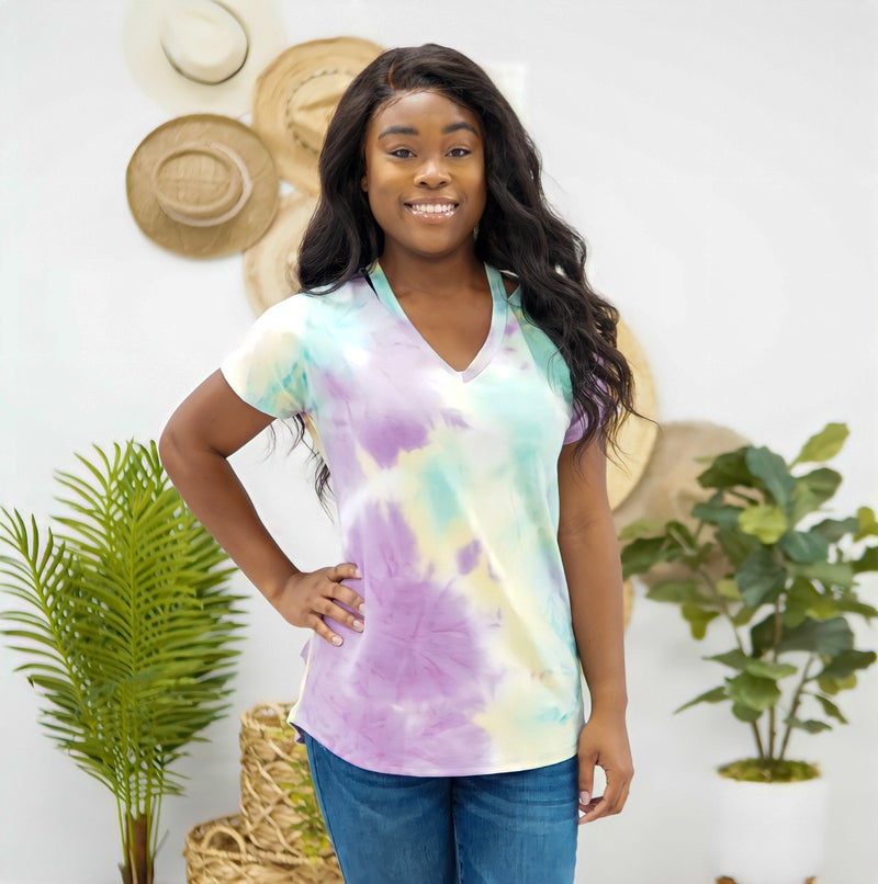 Bright Lights Tie Dye Top