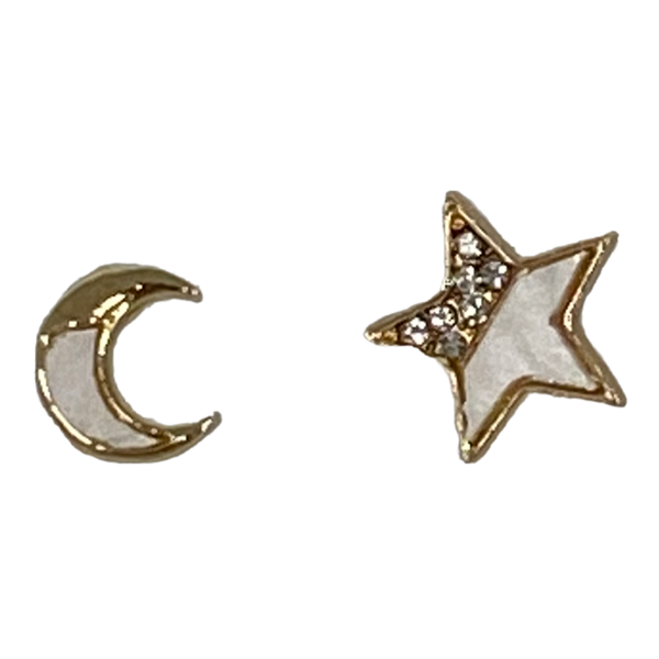 You Are My Forever Moon & Star Earrings
