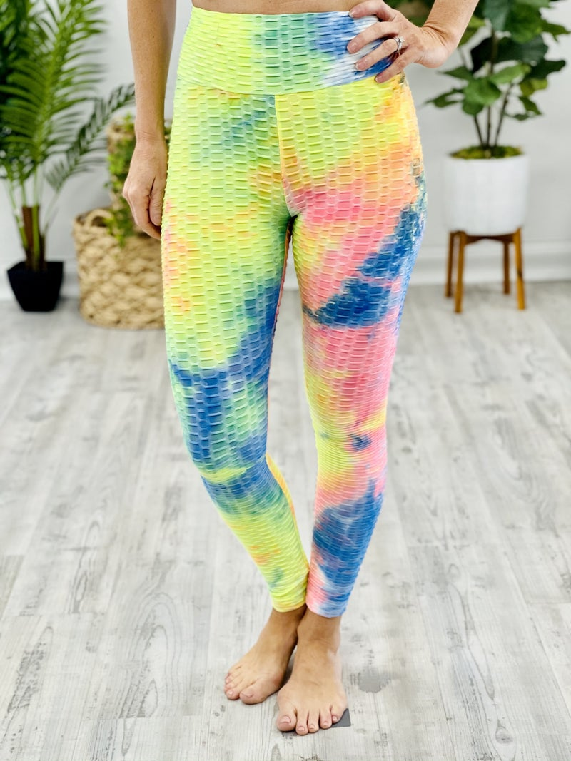 Textured Tie Dye Bottoms