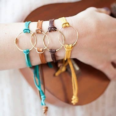 Leather Eternity Bracelet