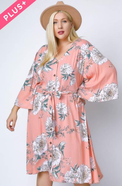 Loving on You Floral Dress