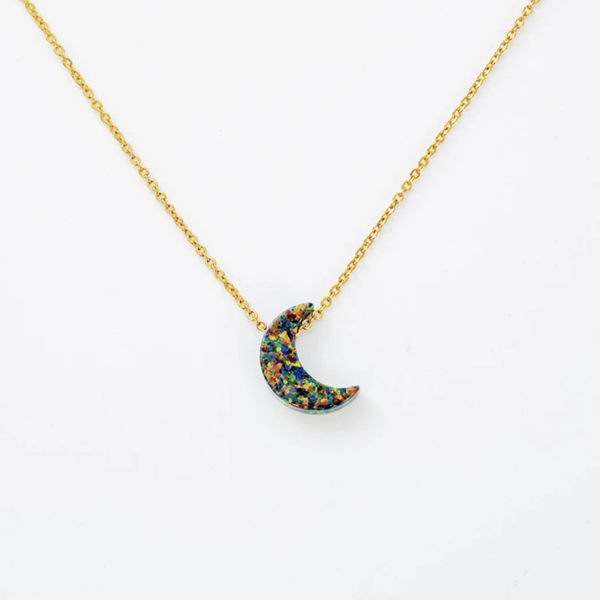 Milky Way Necklace - Black Opal