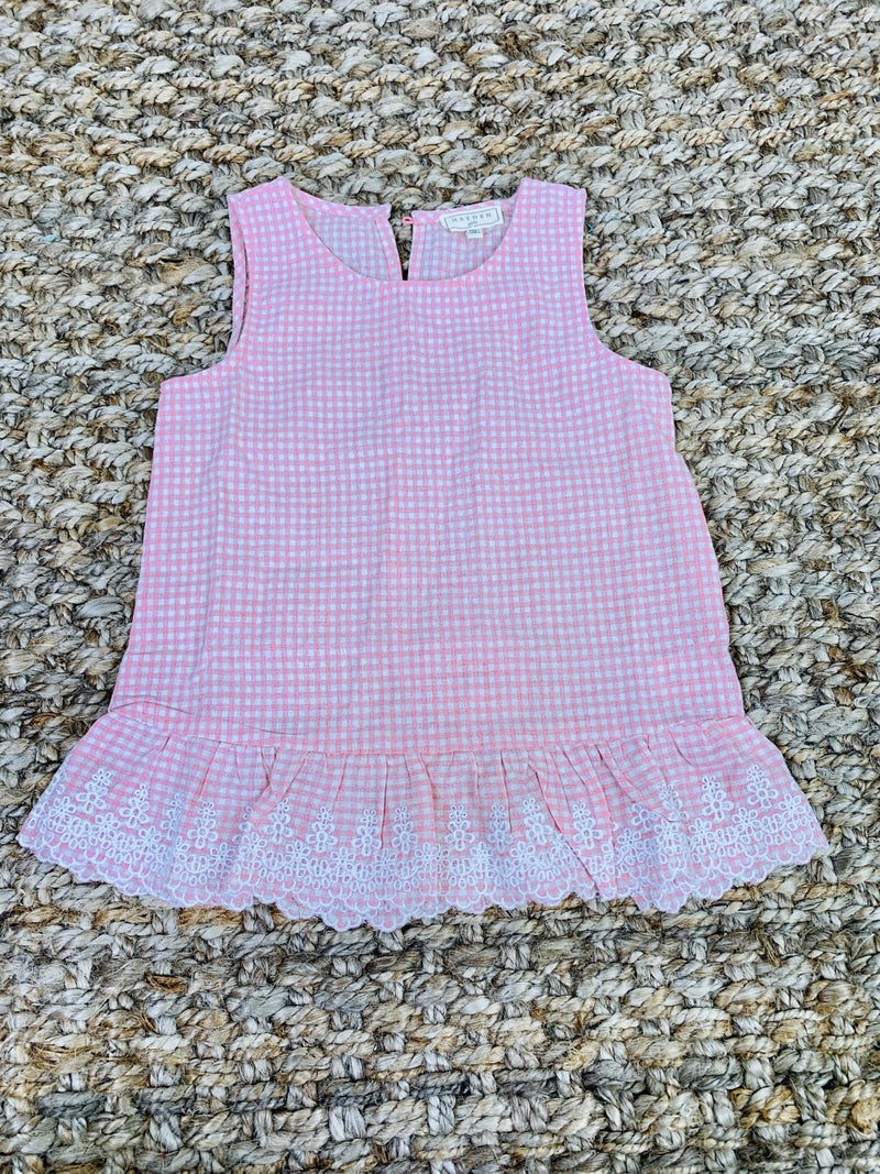 Little mama pink ruffled top