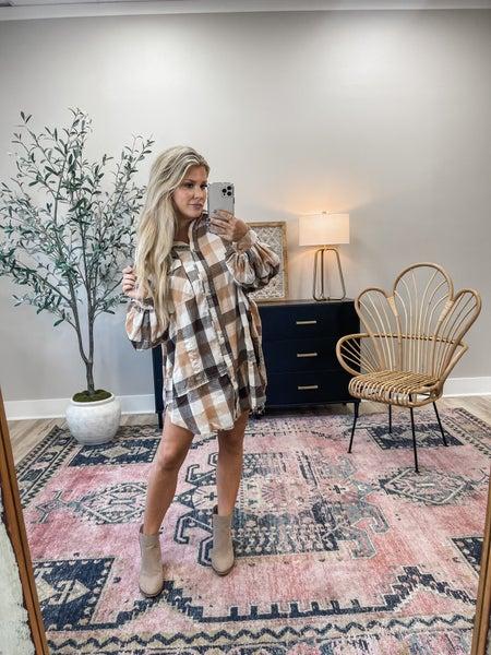 Take A Shot Flannel Dress