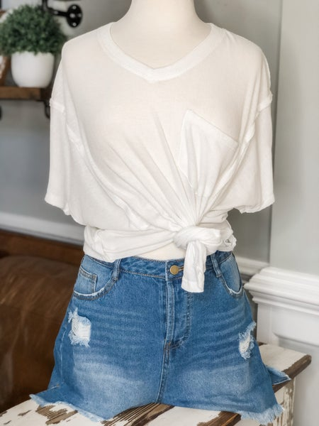 Have It Your Way Shorts-Medium Wash *Final Sale*