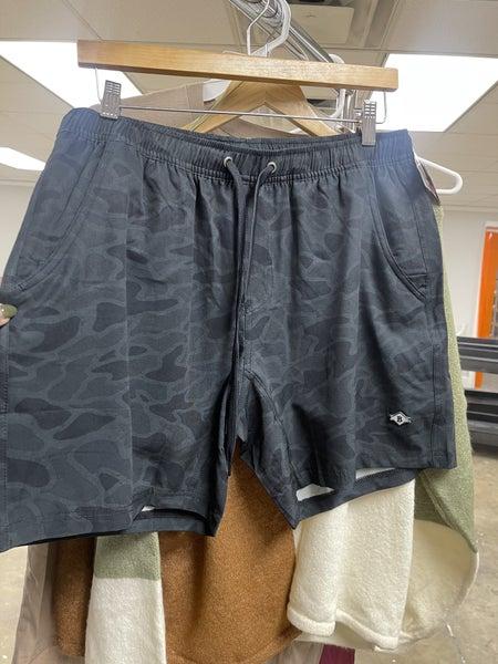 Burlebo Black Camo Pattern Athletic Shorts