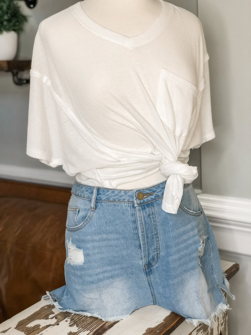 Have It Your Way Shorts-Light Wash *Final Sale*