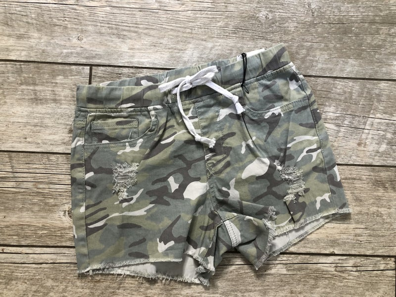 Camo YMI Jogger Shorts