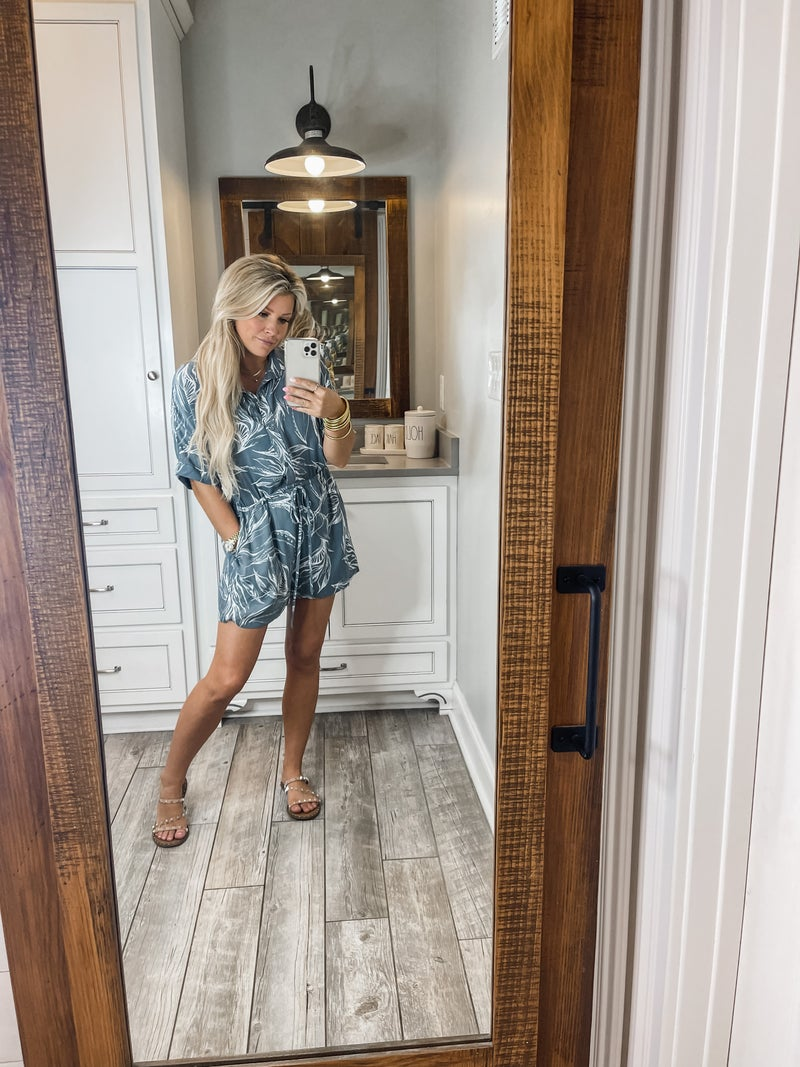 Take Me On Vacation Romper *Final Sale*