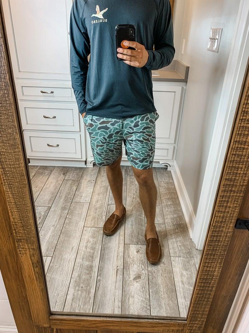 Burlebo Mallard Camo Shorts